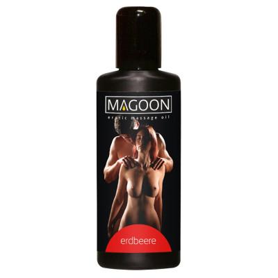 """OLIO PER MASSAGGIEROTICI - AROMA FRAGOLA - """"MAGOON"""" SOLUBILE IN ACQUA - 100 ml"""