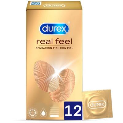 """PROFILATTICI NO LATEX DUREX """"REAL FEEL"""" - 12 PEZZI"""